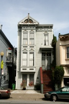 Mission District, casele de lemn