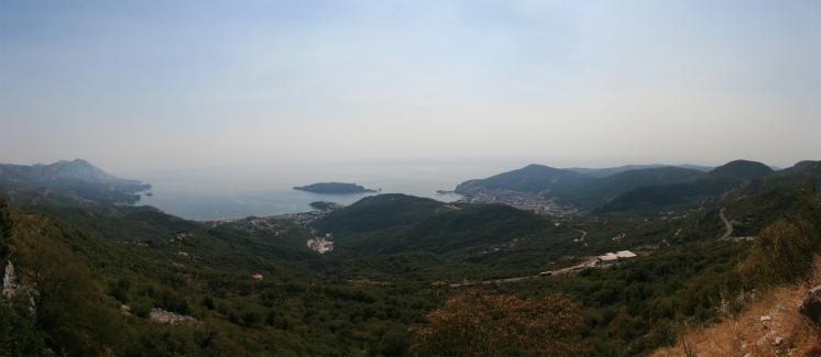 Panoramă, Budva, Muntenegru