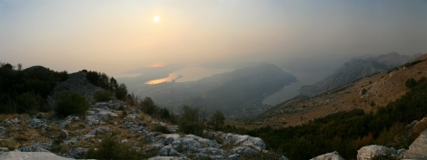 Vedere peste Kotor si Tivat
