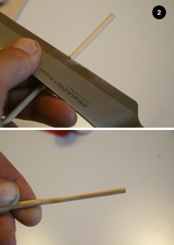 2 - Aplatizare bețigaș bambus