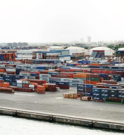 Cargo port, Barcelona