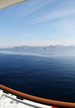 Dimineața, Mallorca, înainte de acostare