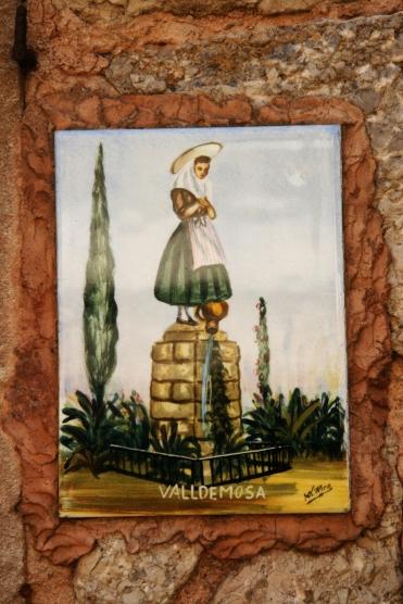 Valldemossa, plăcuțe ceramice, la fiecare casă