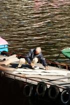 Lake Kawaguchi, worker